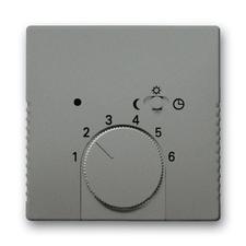 Kryt termostatu s otočným ovladačem Solo metalická šedá