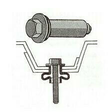 Nerezový svěrný šroub  9x16 mm