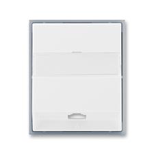 Kryt telefonní zásuvky s 1 otvorem Element bílá / ledová šedá