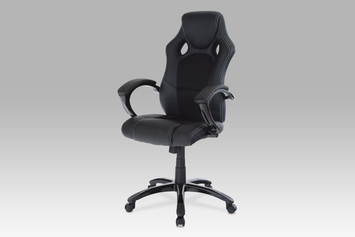 Kancelářská židle, koženka černá, cena za ks