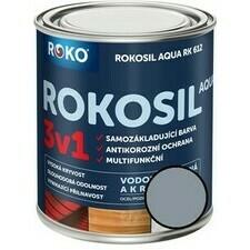 Barva samozákladující Rokosil Aqua 3v1 RK 612 šedá pastelová, 0,6 l