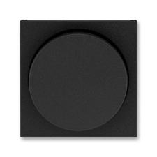 Kryt stmívače s otočným ovladačem Levit onyx / kouřová černá