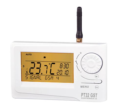 Termostat prostorový s GSM modulem PT32 GST
