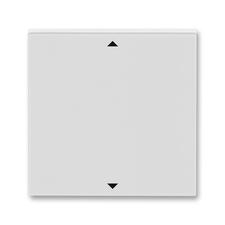 Kryt spínače žaluziového s krátkocestným ovladačem Levit šedá / bílá