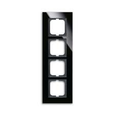 Rámeček Solo carat, vodorovná i svislá montáž, černé sklo