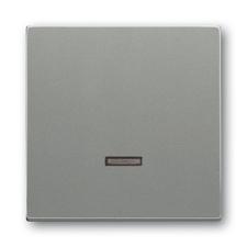 Kryt stmívače s krátkocestným ovladačem Solo metalická šedá