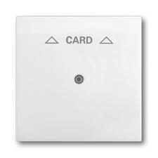 Kryt spínače kartového, s čirým průzorem, s potiskem Impuls mechová bílá
