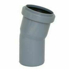 Koleno s hrdlem HTB pro odpadní potrubí, DN 75, úhel 15°
