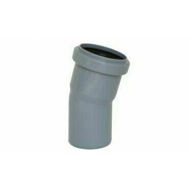 Koleno s hrdlem HTB pro odpadní potrubí, DN 40, úhel 15°
