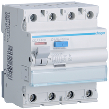 Chránič proudový Hager CDA440D 6 kA 4pól 40 A