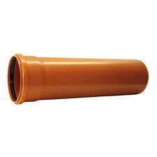 KGEM trubka s hrdlem pro kanalizaci DN 100, délka 1000 mm