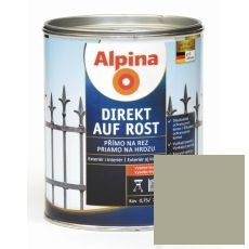 Lak na kov Alpina Direkt A Rost 2,5 l lesk šedá RAL7040