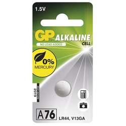 Baterie alkalická knoflíková GP LR44(A76F) (1 ks/bal)