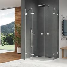 Kout sprchový čtvrtkruhový SanSwiss ESR 900 mm, Aluchrom, čiré