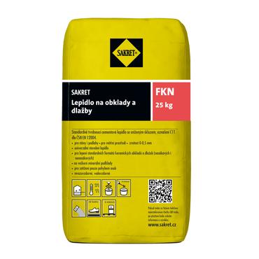 Cementové lepidlo Sakret FKN pro lepení obkladů a dlažeb, 25 kg