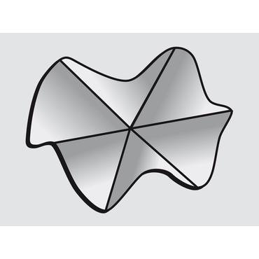 Vnější roh Rhenofol 90° (vlnovec), antracit
