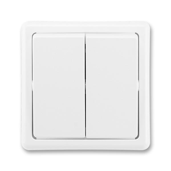 Přepínač střídavý dvojitý Classic jasně bílá