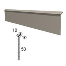 Stěnová lišta vyhnutá z poplastovaného plechu Viplanyl r.š. 70 mm