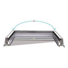 Střešní světlík plochý křídlo pevné izolační sklo DEKLIGHT A=75x120