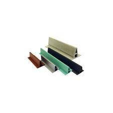 ALKORDESIGN L profil z PVC pro vytvoření imitace stojaté drážky, pálená hlína