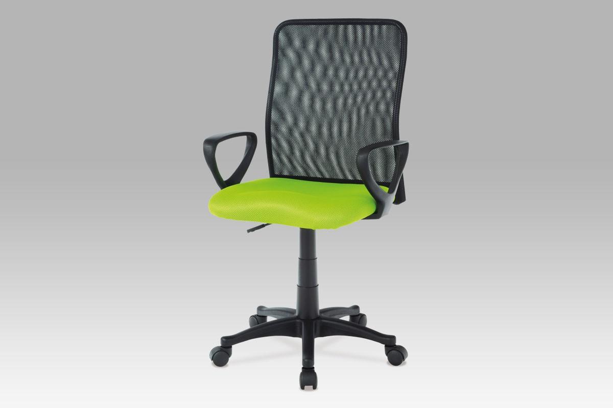 Kancelářská židle, látka MESH zelená/černá, plynový píst, cena za ks