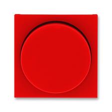 Kryt stmívače s otočným ovladačem Levit červená / kouřová černá