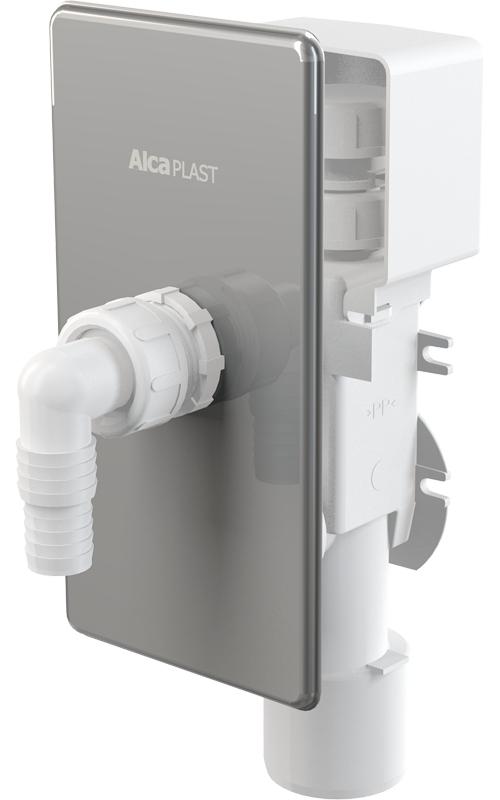 Pračkový nerezový podomítkový sifon Alcaplast APS3 s přivzdušněním