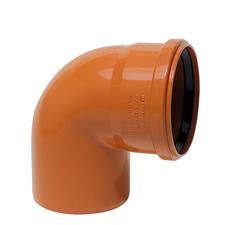 KGB koleno pro kanalizační potrubí DN 125, úhel 87,5°, barva oranžová