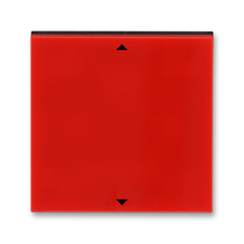 Kryt spínače žaluziového s krátkocestným ovladačem Levit červená / kouřová černá