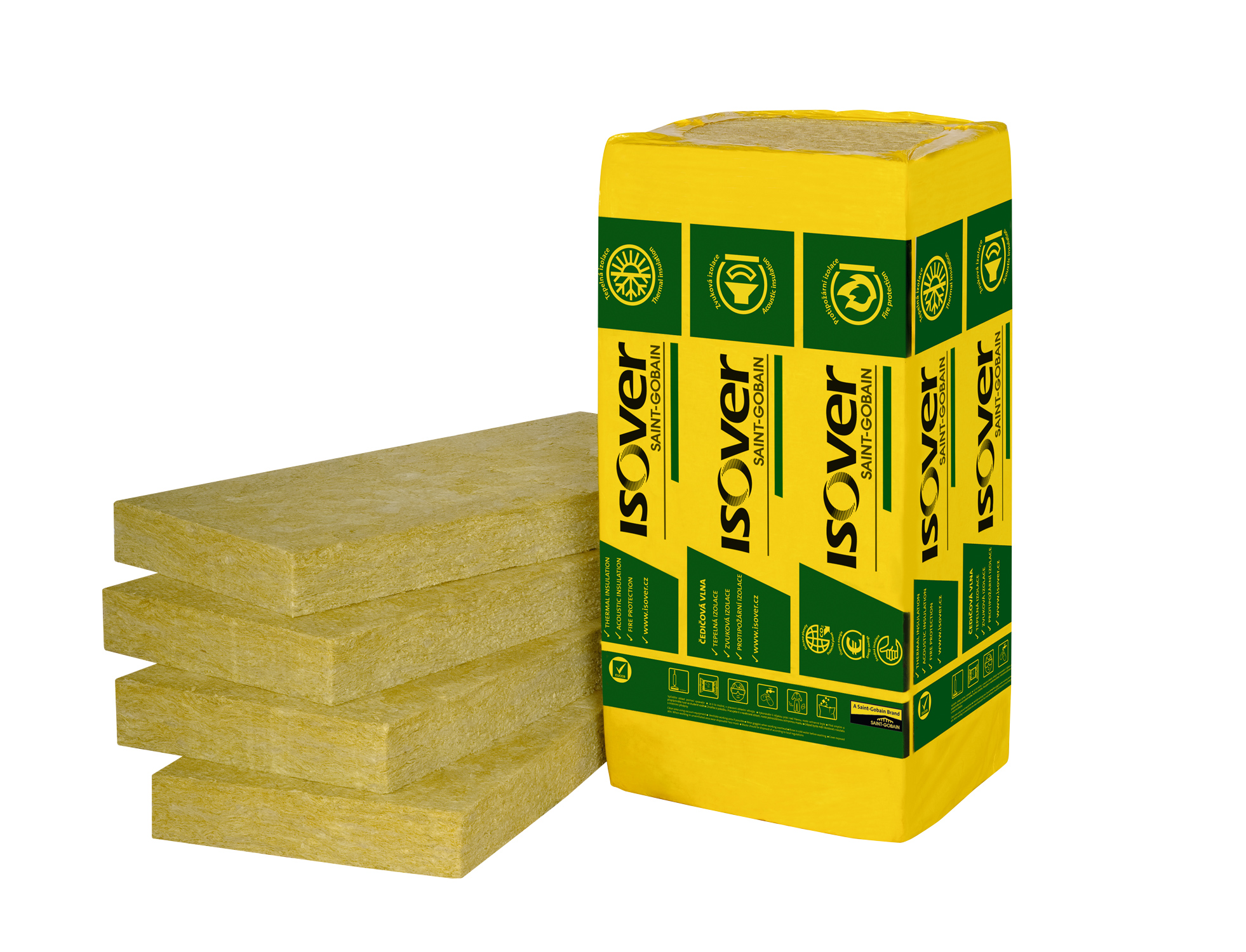 Minerální vata ISOVER UNI desky 200 mm (1200x600 mm), cena za m2