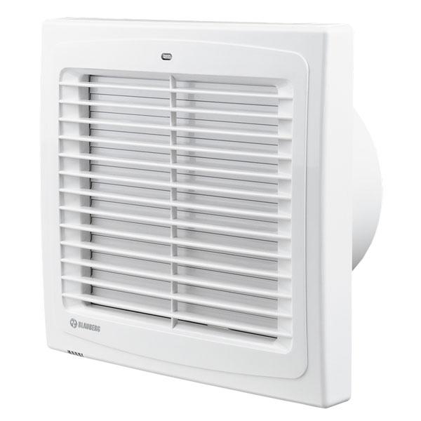 Koupelnový ventilátor s automatickou žaluzií a časovým doběhem