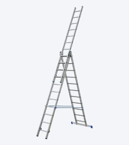 Žebřík hliníkový DEK VHR 3×11 příček