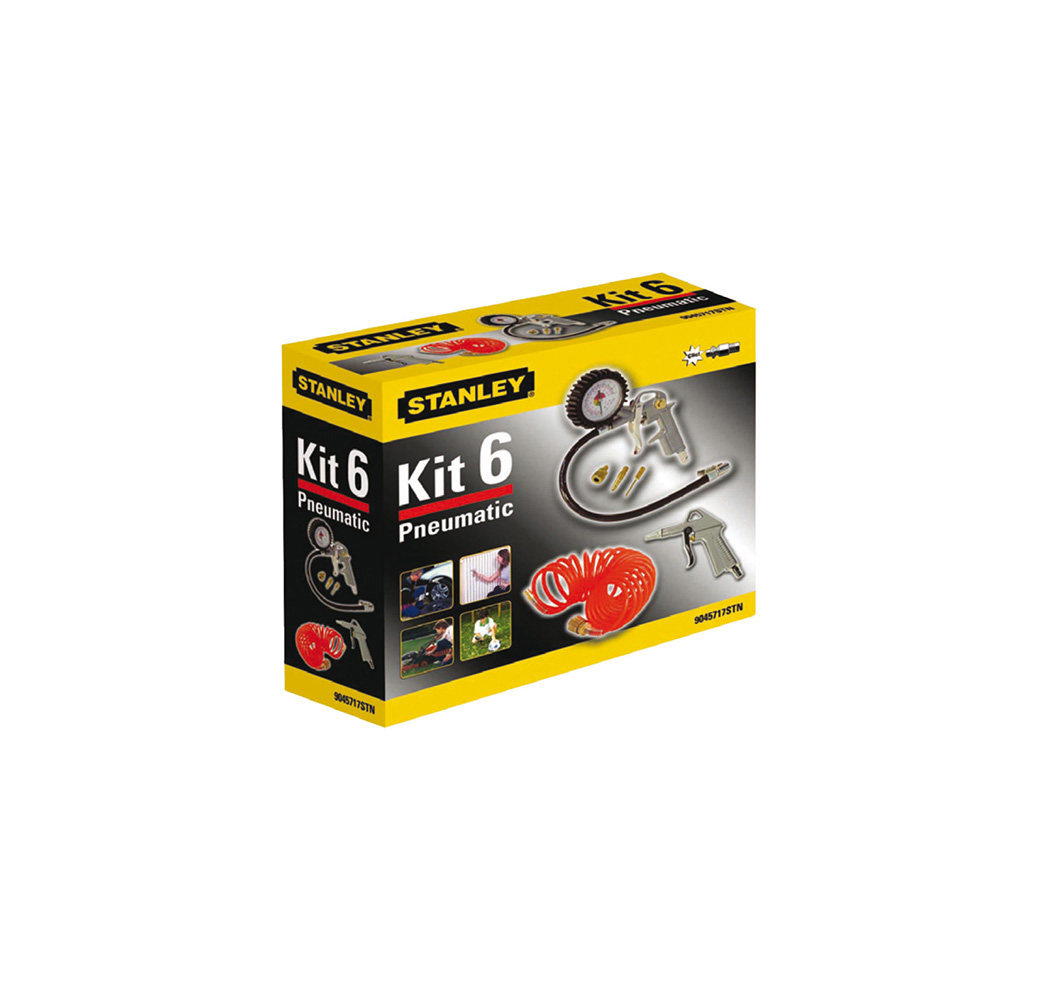 Příslušenství ke kompresoru STANLEY Kit Box (6 ks/sada)