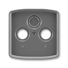 Kryt zásuvky anténní TV/R/SAT Tango kouřová šedá