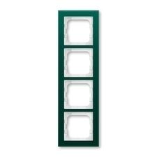 Rámeček ABB Busch-axcent čtyřnásobný sklo zelené