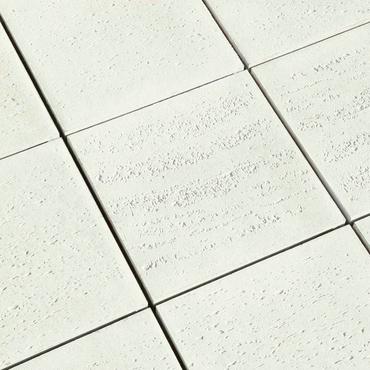 Dlažba betonová BEST TERASOVÁ reliéfní ravertino bílá 400×400×40 mm