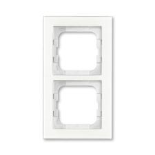 Rámeček ABB Busch-axcent dvojnásobný sklo bílé