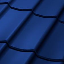 Velkoformátová profilovaná plechová střešní krytina SATJAM TREND SP25 RAL 5010 modrá