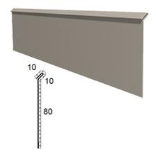 Stěnová lišta vyhnutá z poplastovaného plechu Viplanyl r.š. 100 mm