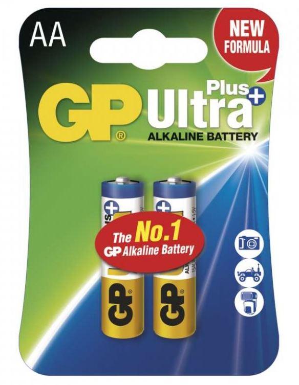 Baterie LR6 AA GP Ultra Plus 2 ks/bal