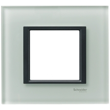 Rámeček jednonásobný, Unica Class, grey glass