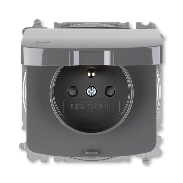 Zásuvka jednonásobná s víčkem ABB Tango IP 44