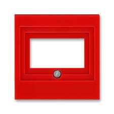 Kryt zásuvky komunikační a reproduktorové Levit červená