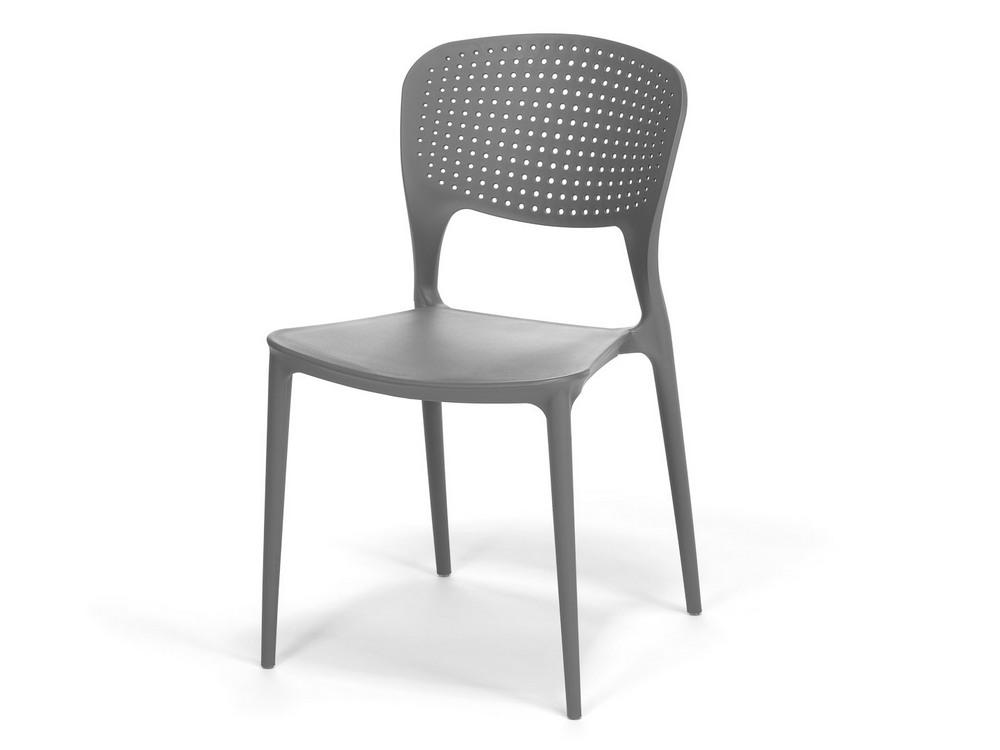 Plastová židle WENDY šedá, cena za ks