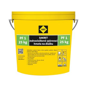 Spárovací hmota Sakret PF 1 šedá, 25 kg/bal