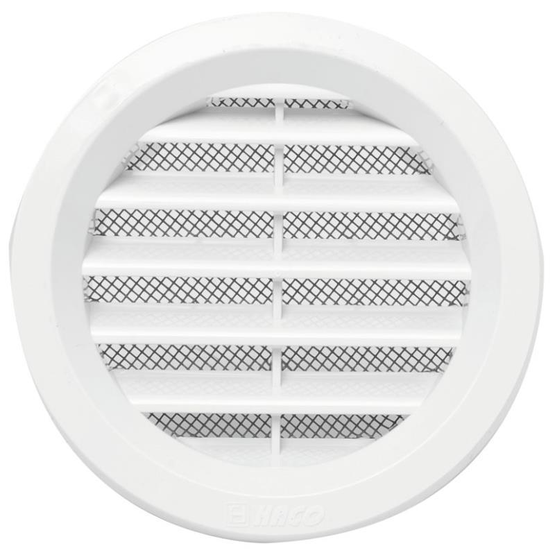 Mřížka větrací kruhová se síťovinou VM průměr 125 mm, bílá