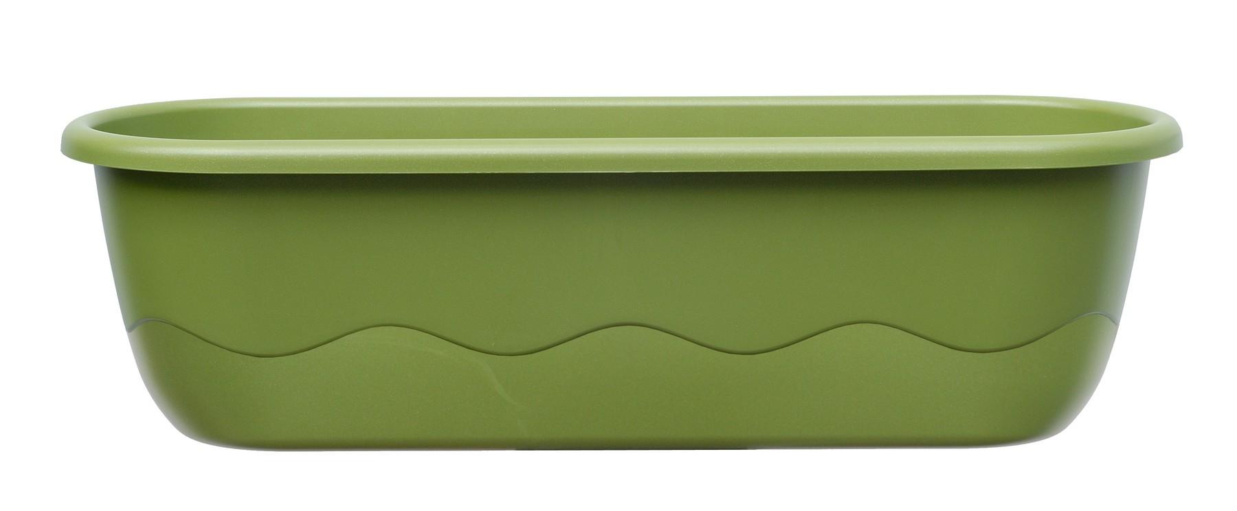 Samozavlažovací truhlík MARETA 60, zelená světlá + zelená tmavá