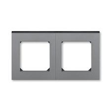 Rámeček Levit, vodorovná/svislá montáž, ocel/kouřová černá