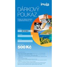 Dárkový poukaz INVIA v hodnotě 500 Kč