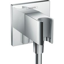 Držák sprchy s vývodem Hansgrohe FIXFIT 26486000 hranatý chrom